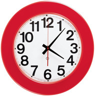 "12.75"" Round Wall Clock with Acrylic Cover - Peter Pepper Model 400P - Analog"