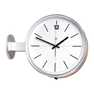 "14"" Round Double-Face Wall or Ceiling Mounted Clock with Acrylic Cover - Peter Pepper Model 505 - Analog"