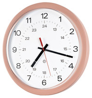 "14"" Round Wall Clock with Acrylic Cover - Peter Pepper Model 843P - Analog"