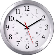 """11.75"""" Round syncTECH Receiver Wall Clock - Peter Pepper Model WC100 - Analog"""