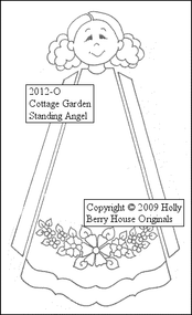 Cottage Garden Standing Angel