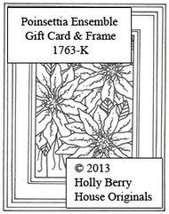 Poinsettia Ensemble Gift Card & Frame