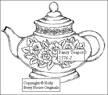 craft and commerce pansy teapot berry house originals 1376