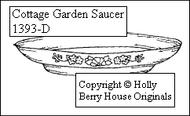 Cottage Garden Saucer
