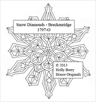 The Breckenridge Snow Diamond snowflake rubber art stamp.