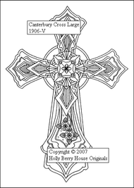 The Canterbury Cross rubber art stamp.