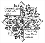 The Cathedral Lights Medallion rubber art stamp.