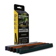 Work Sharp Replacement Belt WSSA0002012, Assorted Grit, 6 Pack