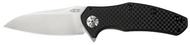 "Zero Tolerance ZT 0770CF Assisted Opening Knife, 3.25"" Plain Edge Blade, Black Carbon Fiber Handle"