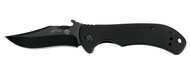 "Kershaw Emerson CQC-2K 6024BLK Folding Knife, Black 2.687"" Plain Edge Blade, Black G-10 and Stainless Steel Handle"