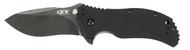 """Zero Tolerance 0350BW Assisted Opening Knife, Blackwashed 3.25"""" Plain Edge Blade, Black G-10 Handle"""