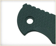 "Rick Hinderer Knives Folding Knife Handle Scale for XM-18 - 3"", Dark Green"