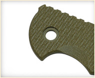 "Rick Hinderer Knives Folding Knife Handle Scale for XM-18 - 3"", Olive Drab (OD) Green"