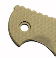 "Rick Hinderer Knives Folding Knife Handle Scale for XM-18 - 3.5"", Sand"