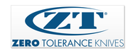 Zero Tolerance Knives Large Decal Sticker DECALZT-LARGE, Blue and White Vinyl