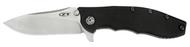 "Zero Tolerance 0562 Flipper Folding Knife, 3.6"" Plain Edge S35VN Blade, Black G-10 and Titanium Handle"