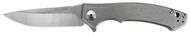 """Zero Tolerance 0450 Flipper Folding Knife, 3.25"""" Plain Edge Blade, Titanium Handle"""
