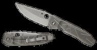 "Spyderco Nirvana C199TIP Folding Knife, 3.75"" Plain Edge Blade, ""Broken Glass"" Titanium Handle"