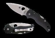 "Spyderco Native 5 C41CFFP5 Folding Knife, 3"" Plain Edge CPM-S90V Blade, Fluted Carbon Fiber Handle"