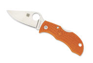 "Spyderco Manbug MBORPE Sprint Run Folding Knife, 1.968"" Plain Edge HAP40 and SUS 410 Laminate Blade, Burnt Orange FRN Handle"