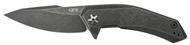"""Zero Tolerance 0095BW Flipper Folding Knife, Blackwashed 3.75"""" Plain Edge Blade, Blackwashed Titanium Handle"""