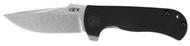 "Zero Tolerance ZT 0909 Flipper Folding Knife, 3.75"" Plain Edge Blade, Black G-10 Handle"