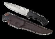 "Spyderco Sustain FB39GP Fixed Blade Knife, 6.25"" Plain Edge Blade, Black G-10 Handle, Sheath"