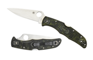 "Spyderco Endura 4 C10ZFPGR Folding Pocket Knife, 3.812"" Plain Edge Blade, Zome Green FRN Handle"