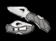 "Byrd Robin 2 BY10TIP2 Folding Knife, 2.375"" Plain Edge Blade, Gray Titanium Handle"
