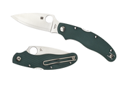 "Spyderco Caly 3 C113GPGR Sprint Run Folding Knife, 3"" Plain Edge Hap 40 and SUS410 Laminate Blade, Green G-10 Handle"