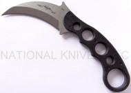 "Emerson Knives Karambit SF Fixed Blade Knife, Satin 3.3"" Plain Edge 154CM Blade, Black G-10 Handle, Sheath"