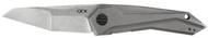"""Zero Tolerance 0055 Flipper Folding Knife, 3.75"""" Plain Edge Blade, Titanium Handle"""