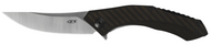 "Zero Tolerance 0460 Flipper Folding Knife, 3.25"" Plain Edge Blade, Bronze Carbon Fiber and Titanium Handle"