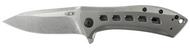 "Zero Tolerance 0801TI Flipper Folding Knife, 3.5"" Plain Edge Blade, Titanium Handle"