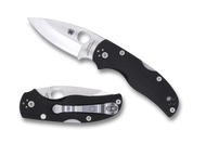 "Spyderco Native 5 C41CFPE5 Sprint Run Folding Knife, 3"" Plain Edge CPM-154 and CPM-S90V Laminate Blade, Black Carbon Fiber Handle"