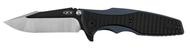 "Zero Tolerance 0393 Folding Knife, Two-Tone  3.625"" Plain Edge Blade, Black G-10 and Blue Titanium Handle"