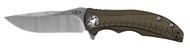 """Zero Tolerance 0609 Folding Knife, 3.4"""" Plain Edge Blade, Bronze Titanium Handle"""