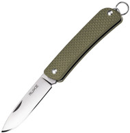 "Ruike Knives Criterion Collection S11-G Folding Knife, 2.1"" Plain Edge Blade, Green G-10 Handle"
