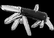 """Ruike Knives Trekker LD51-B Multitool, 3.4"""" Blade, 23 Functions, Black G-10 Handle"""
