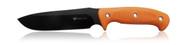 "Steel Will Knives Roamer R300-1OR Fixed Blade Knife, 6.25"" Plain Edge Blade, Orange TPE Handle, Sheath"
