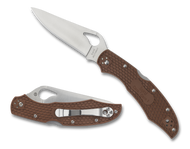 "Byrd Cara Cara 2 BY03PBN2 Folding Knife, 3.75"" Plain Edge Blade, Brown FRN Handle"
