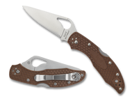 "Byrd Meadowlark 2 BY04PBN2 Folding Knife, 2.875"" Plain Edge Blade, Brown FRN Handle"