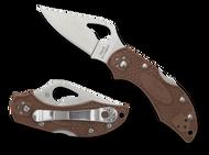 "Byrd Robin 2 BY10PBN2 Folding Knife, 2.375"" Plain Edge Blade, Brown FRN Handle"