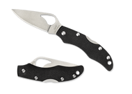 "Byrd Finch 2 BY11GP2 Folding Knife, 1.875"" Plain Edge Blade, Black G-10 Handle"
