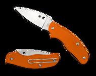"Spyderco Spy-DK C179POR Slipit Folding Knife, 2.687"" Plain Edge Blade, Orange FRN Handle"