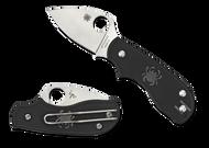 "Spyderco Squeak C154PBK Folding Knife, 2"" Plain Edge Blade, Black FRN Handle"