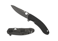 "Spyderco Southard Folder C156GPBBK Flipper Folding Knife, Black 3.5"" Plain Edge CTS-204P Blade, Black G-10 and Titanium Handle"