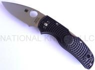 "Spyderco Native 5 C41PBK5 Folding Knife, 3"" Plain Edge S30V Blade, Black FRN Handle"