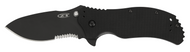 "Zero Tolerance 0350ST Assisted Opening Knife, Black 3.25"" Partially Serrated Edge Blade, Black G-10 Handle"