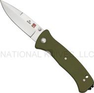 "Al Mar Mini SERE 2000 MS2KOD Folding Knife, 3.062"" Plain Edge Blade, Olive Drab G-10 Handle"
